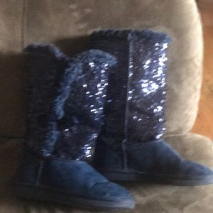 Girls Justice sparkle boots